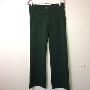 Betabrand Dark Green Yoga Dress Pants Lg-Petite